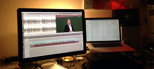 Editing the camp video recordings