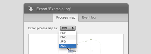 XML export for process maps