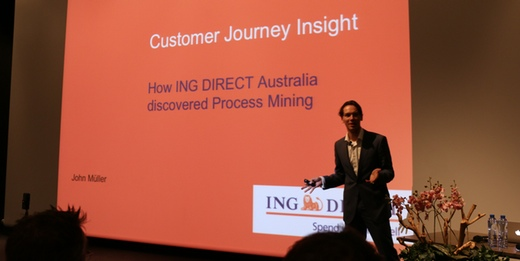 John Müller from ING at Process Mining Camp 2014
