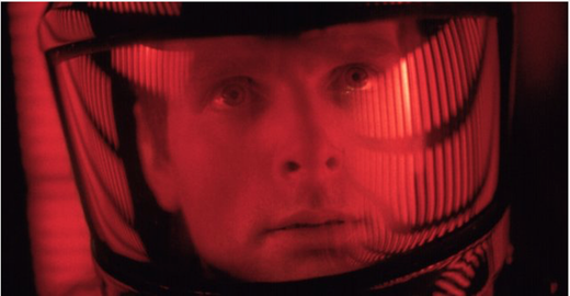 With a title as 'Human vs. Machine' how can we not think of the glorious '2001: A Space Odyssey' (follow the link for more images at IMDb)