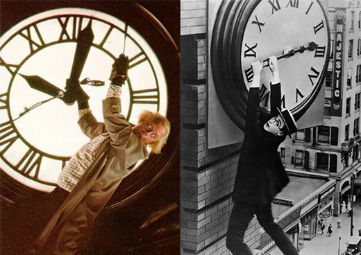 Did you know that 'Back to the future' contains an hommage to the classic 1928 silent comedy 'Safety Last'?